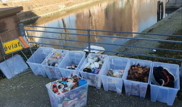 River waste recovered in Strasbourg