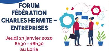 Participation au forum fédération Charles Hermite – Entreprises, à Nancy