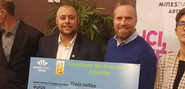 """Vainqueurs du concours """"ré-inventer la planète"""" organisé par les Mines de Nancy"""